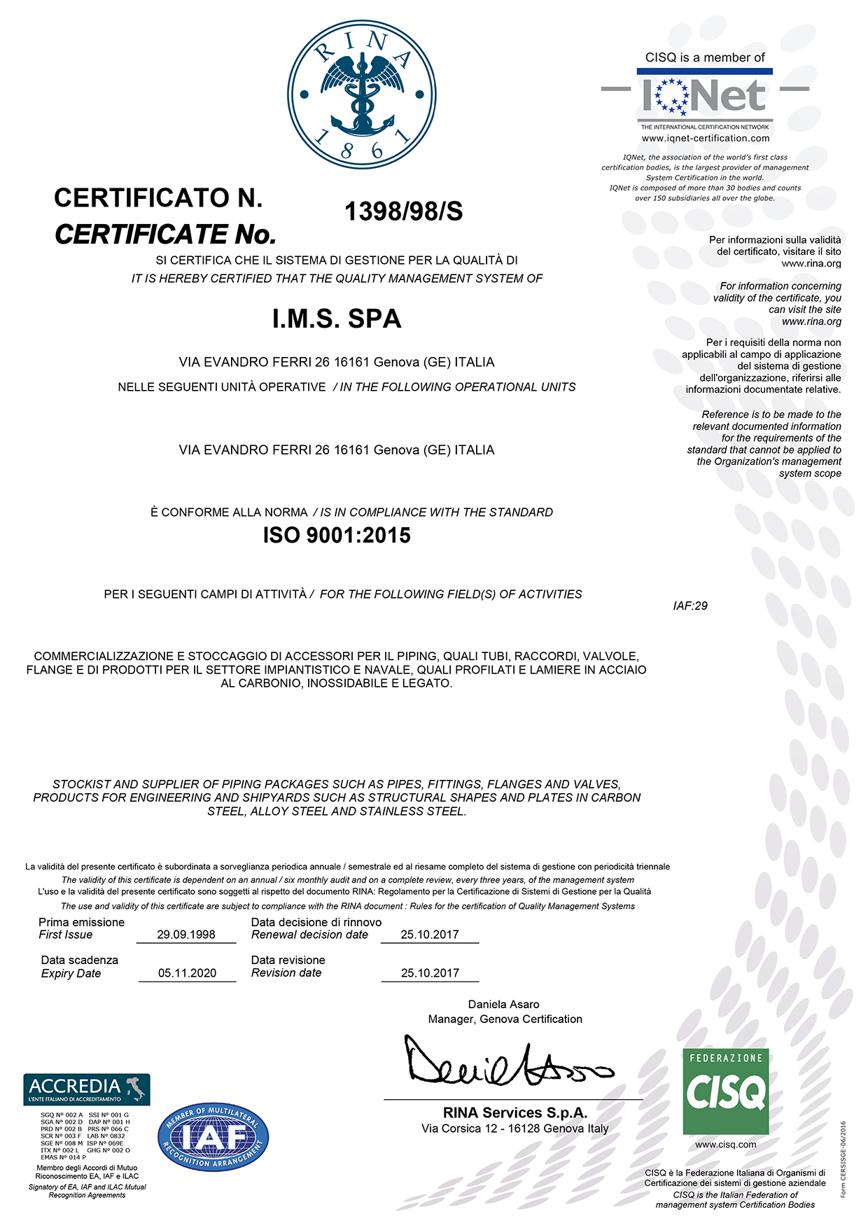 Ims spa specialized supplier of piping packages for oil to request our iso certificate please contact us xflitez Images